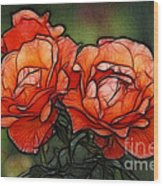 Nothing Sweeter Than A Rose Wood Print