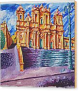 Noto Cathedral Sicily Wood Print