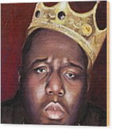 Notorious Big Portrait - Biggie Smalls - Bad Boy - Rap - Hip Hop - Music Wood Print