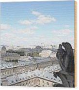 Notre Dame 2 Paris France Landscape Wood Print