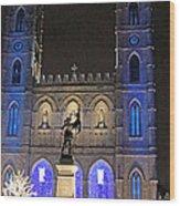 Notre-dame Basilica Of Montreal Wood Print