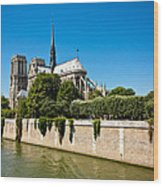 Notre Dame Cathedral And The Seine Wood Print