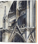 Notre Dame Cathedral Architectural Details Wood Print