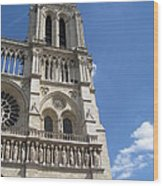 Notre Dame Cathedral Paris Tower Wood Print