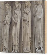 Notre Dame Cathedral Saints Wood Print