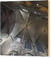 Notre Dame Ceiling South Wood Print