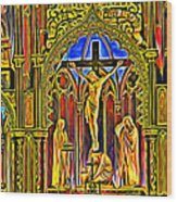 Notre Dame Color Wood Print