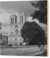 Notre Dame De Paris 2b Wood Print