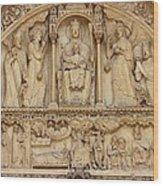 Notre Dame Detail Wood Print