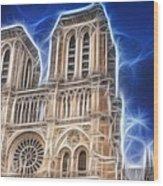 Notre Dame Fractal Wood Print