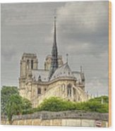 Notre Dame From The Seine Wood Print
