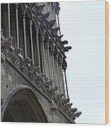 Notre Dame Gargoyle Row - Dijon Wood Print