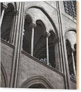 Notre Dame Gothic Arches Wood Print