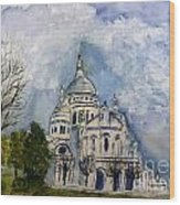 Sacre Coeur In Paris Wood Print