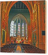 Notre Dame Of Luxembourg Wood Print