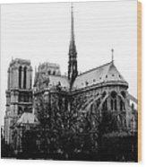 Notre Dame Wood Print by Rita Haeussler