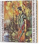 Nouvelle Caledonie Island Stamp Wood Print