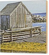 Nova Scotia Shack Wood Print