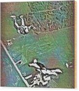 Nova Scotia Skydivers Wood Print
