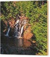 Nova Scotia Water Falls Wood Print