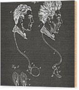 Novelty Wig Patent Artwork Gray Wood Print