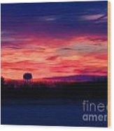 November 28 2014 Sunrise Wood Print