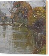 November 4th At Hyde Park Wood Print