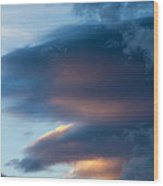 November Clouds 001 Wood Print