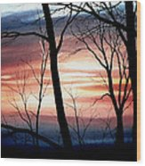 November Lace Wood Print