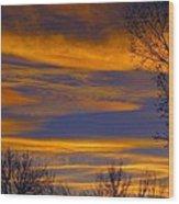 November Skies Wood Print