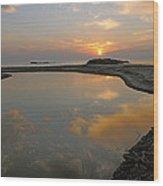 November Sunrise-lake Superior Wood Print