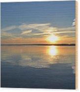 November Sunrise  Wood Print