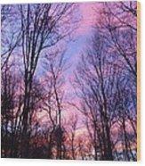 November Sunset Wood Print