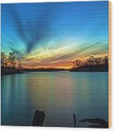 November Sunset Wood Print