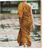 Novice Monk Of Chedi Luang Wood Print