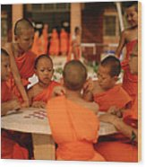 Novice Monks Wood Print