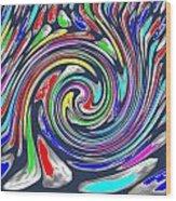 Novino Signature Art Walking Fine Lines Twirl Background Designs  And Color Tones N Color Shades Ava Wood Print