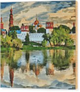 Novodevichy Monastery In Moscow Wood Print