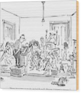 Now, Last Time, Near The End Of Ravel's 'bolero,' Wood Print