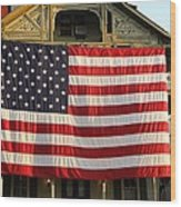 Now This Is A Flag Wood Print