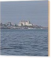 Nubble Lighthouse From Long Sands Beach Panorama Wood Print