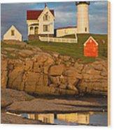 Nubble Lighthouse No 1 Wood Print