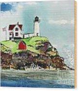 Nubble Lighthouse Wood Print