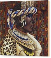 Nubian Prince Wood Print by Jane Whiting Chrzanoska