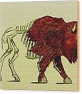Nuclear Buffalo Wood Print
