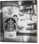 Nuclear Starbucks Wood Print