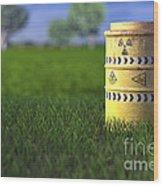 Nuclear Waste Wood Print