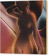 Nude 4 Wood Print by Christian Simonian
