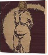 Nude Acting Wood Print