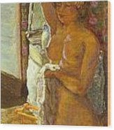 Nude Against The Light Wood Print by Granger